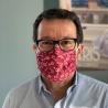 Lot de 10 masques en microfibre réutilisables - Décor feuilles de vigne.